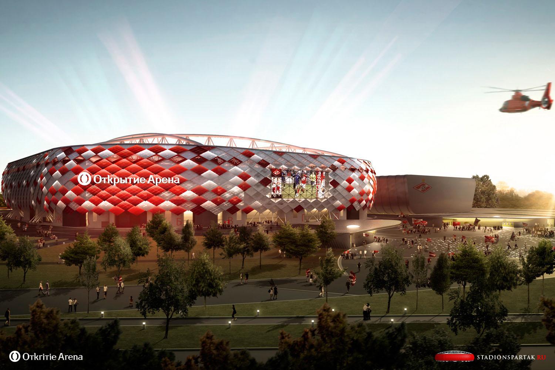 Стадион Спартак - Новости, фото и видео о строительстве